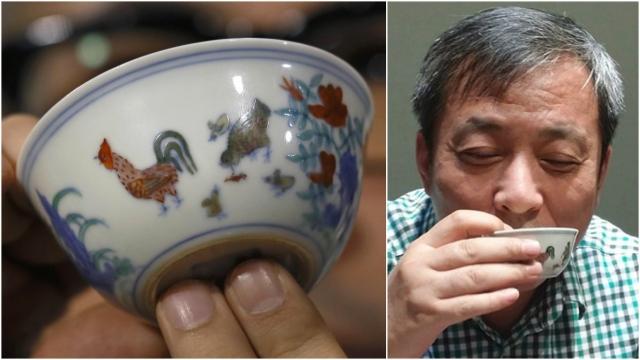 Тогда этот трофей установил рекорд как самое дорогостоящее китайское произведение искусства, когда-либо проданное с молотка. После этого коллекционер пил из бесценной посуды во время фотосессии, что вызвало возмущение в арт-мире.