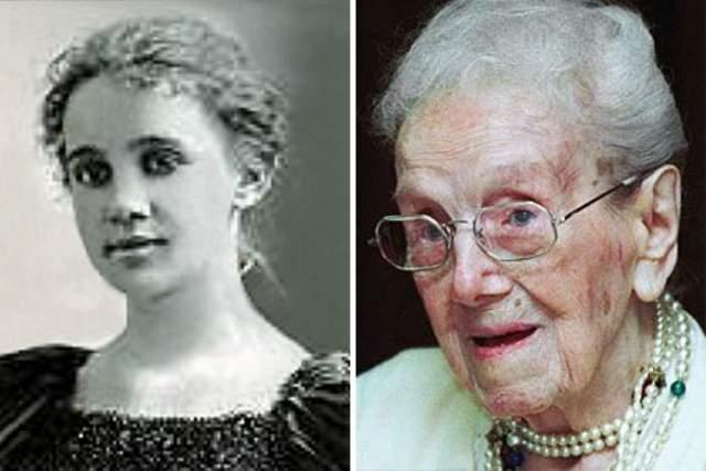 """Сара Кнаусс, 24 сентября 1880 - 30 декабря 1999, прожила 119 лет, 97 дней. Кнаусс своими глазами видела семь американских войн, Великую Депрессию и смерть своего мужа после 64 лет брака. На момент смерти она была уже старше Бруклинского моста и Статуи Свободы в США. Когда ей сказали, что она стала старейшим человеком в мире, она ответила: """"Ну и что?""""."""