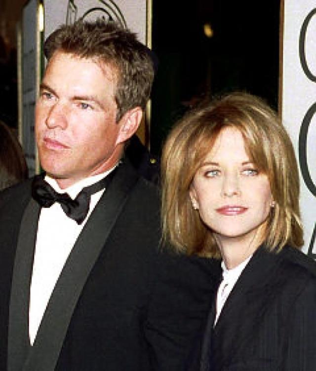 Мэг Райан. Актриса вышла замуж за коллегу по двум фильмам Дэнниса Куэйда в день Святого Валентина 1991 года.