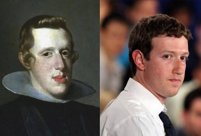 А вот и сам король Испании Филипп IV и Марк Цукерберг .