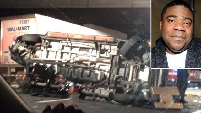 Трейси Морган. Актер попал в автоаварию с участием грузовика, в которой его друг, находившийся с ним в машине, погиб.