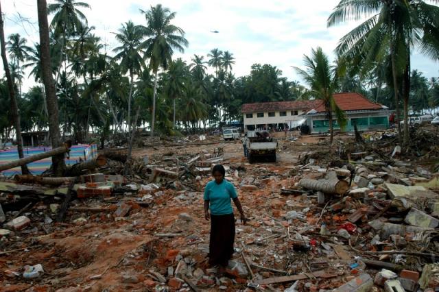 Из 20 млн. жителей Шри-Ланки не меньше 170 тысяч - рыбаки и члены их семей. Цунами унесло жизни почти каждого десятого из них. Две волны, прокатившиеся вглубь суши на расстояние от 500 м до 1500 м, сравняли с землей десятки тысяч домов, разбили в щепки тысячи лодок и судов.