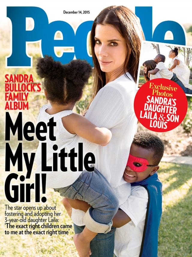 В декабре 2015 года стало известно, что Сандра усыновила второго ребенка - дочь Лилу.