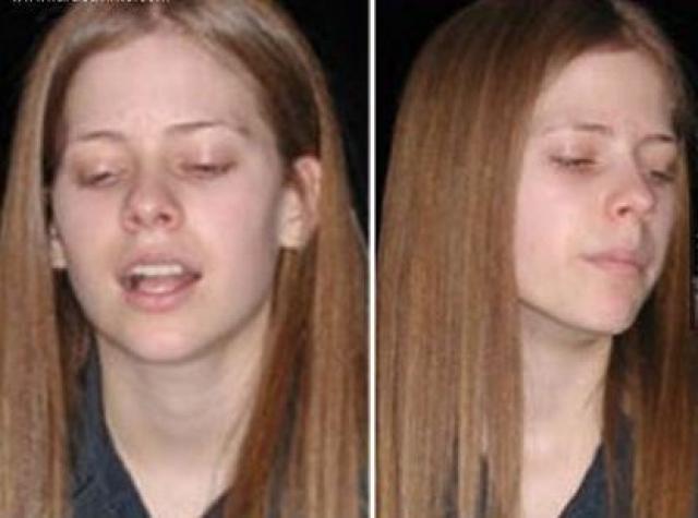 Без макияжа Аврил выглядит вот так.
