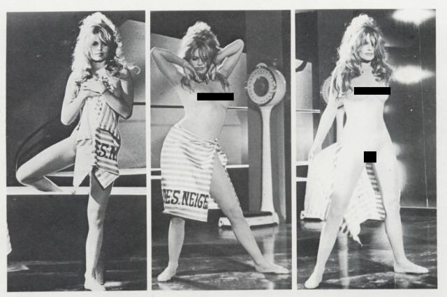 """Бриджитт демонстрировала полностью обнаженное тело в фильме """"Отпустив поводья"""" 1961 года."""