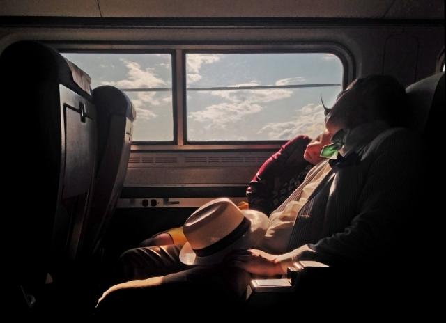 Ивонн Лу , третье место с фотографией пассажиров.