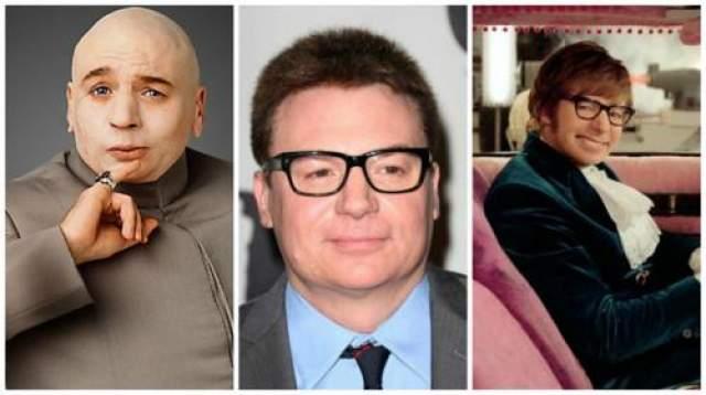 """Майк Майерс, """"Остин Пауэрс"""" (1997-2002). Пародия на Джеймса Бонда стала одним из главных комедийных блокбастеров рубежа веков."""