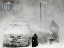 В США прошел самый сильный снегопад в мире