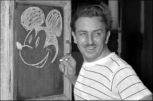 """Уолт Дисней Американский художник-мультипликатор и кинорежиссер, основатель студии """"Walt Disney Productions"""", которая на данный момент превратилась в мощную мультимедийную империю """"The Walt Disney Company"""". Именно Дисней является первым создателем звуковых мультфильмов. За свою карьеру он снял более 100 фильмов."""