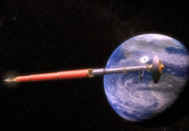 """Проект """"Аэлита"""" (на фото современная компьютерная модель корабля) развивался, предстояло провести конкурс предлагавшихся вариантов. Все упиралось в возможности системы жизнеобеспечения жизнедеятельности экипажа, ресурсов которой явно не хватало на длительный полет даже одного космонавта."""