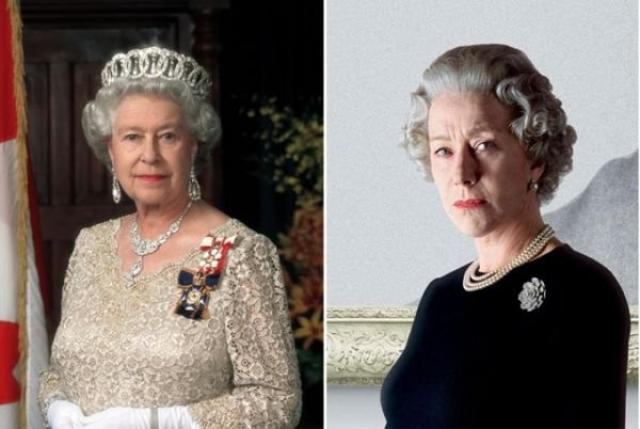 """Елизавета II и Хелен Миррен , """"Королева""""."""