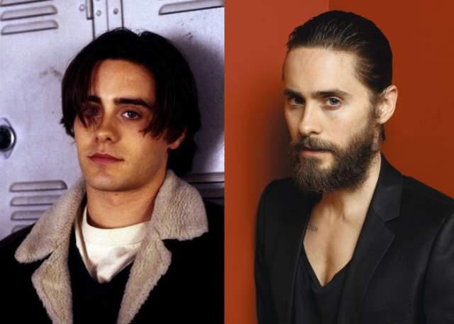 """Джаред Лето, 47 лет. Вообще нормальное состояние Лето - это когда он с бородой, но периодически он """"сбрасывает"""" волосяной покров для разных ролей."""