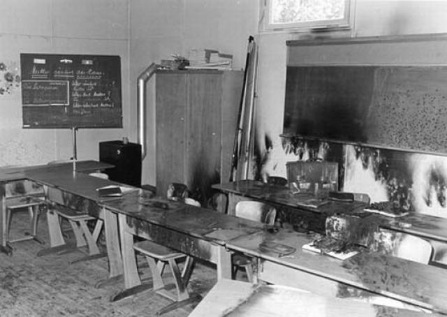 Пока пожарные тушили ферму, Кехо взорвал северное крыло школьного здания, убив тем самым многих детей, находившихся внутри.