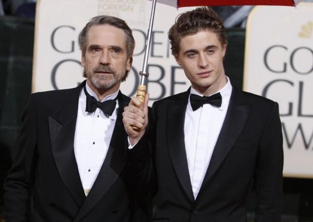 Джереми Айронс и Макс Айронс. Сын известного актера и ирландской актрисы Шинейд Кьюсак.