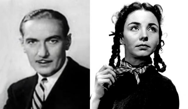 """1944 - Пол Лукас (""""Дозор на Рейне"""")/Дженнифер Джонс (""""Песня Бернадетт"""")"""