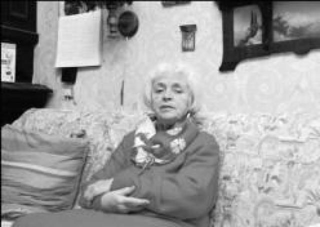 Прообразом этой 6-метровой скульптуры стала натурщица Мухинского училища Елена Сидорова . Кроме своей вдохновенной внешности и горделивой осанки, она имела и героическое прошлое: пережила Блокаду, спасала раненых в тылу, носила им воду, тушила фашистские зажигалки.
