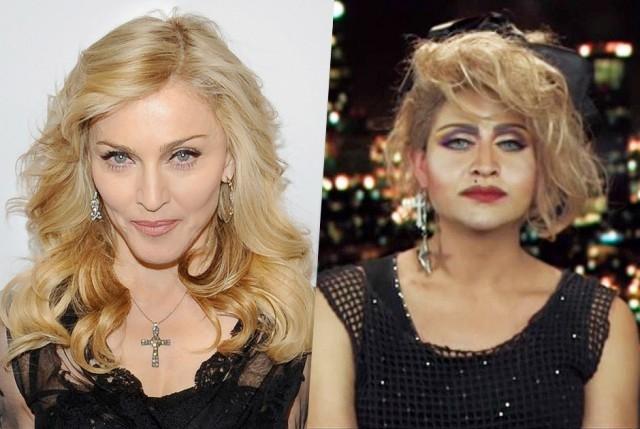 Эдам Геррера - Мадонна. Женщина из Лос-Анджелеса обожает певицу и потратила 175 тысяч долларов, чтобы добиться сходства с ней.