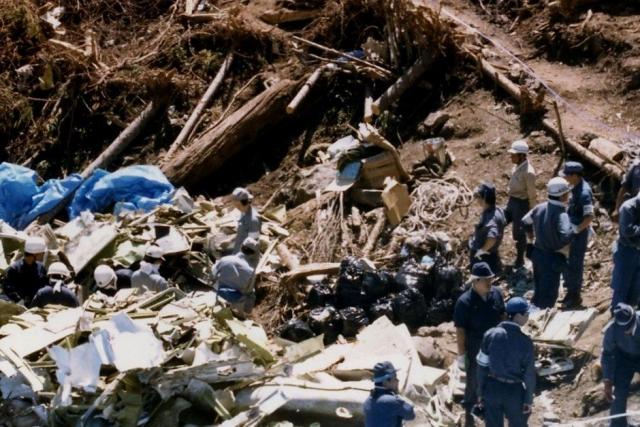 Не имея возможности приземлиться из-за склона в 45°, а также из-за пожара, бушевавшего практически на всей площади расположения обломков, командир вертолета Судзу Амори принял решение вернуться на базу.