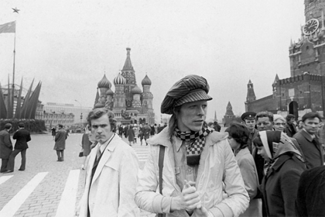 Дэвид Боуи на Красной площади.