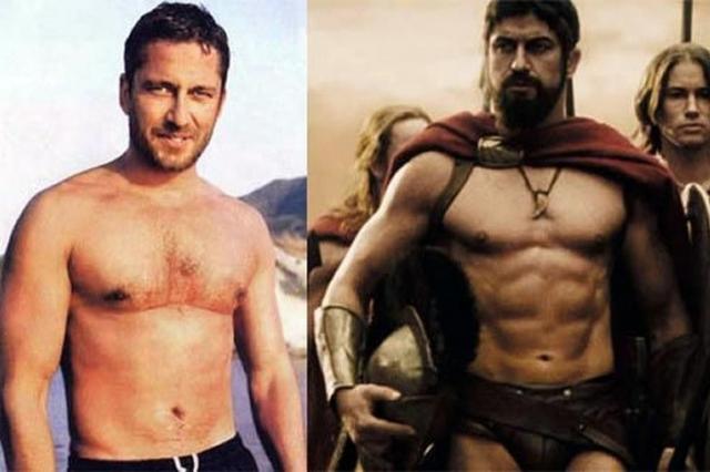 """Джерард Батлер. Для в кинокартине """"300 спартанцев"""" актеру пришлось набрать 10 кг, но не просто лишнего веса, а мышечной массы."""