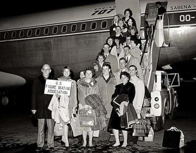 В 1961 году самолет Boeing 707 разбился, совершая посадку в аэропорту Брюсселя. 73 человека погибло, включая весь состав сборной США по фигурному катанию.