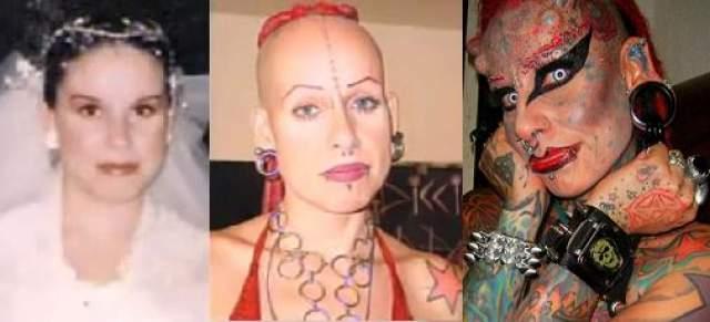 Мария Хосе Кристерна, 43 года. Женщина стала известна на весь мир, когда сделала рекордное количество тату на своем теле.