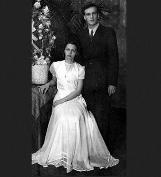 Диктор Игорь Кириллов и его новоиспеченная супруга Ирина .
