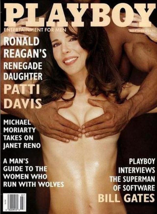 Playboy, июль 1994. На обложке всемирно известного журнала появилась Патти Дэвис, дочь президента США Рональда Рейгана.