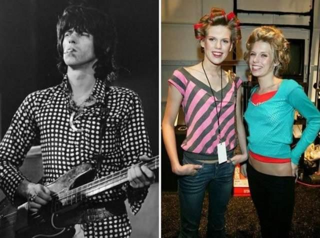 Александра Теодора Ричардс Обе дочери Кита Ричардса из Rolling Stones заняты в модельном бизнесе. И 24-летняя Теодора и 23-летняя Александра утверждают, что отец поддерживает их стремление сделать карьеру в модельном бизнесе. У девушек, кстати, отлично получается.