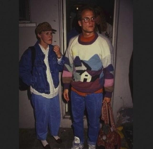 Вуди Харрельсон и Глен Клоуз в модных туалетах.