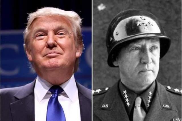 Дональд Трамп и генерал Джордж Паттон