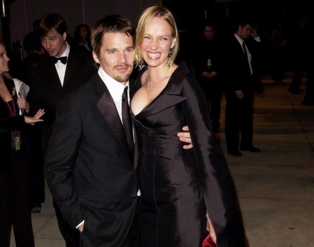 Итан Хоук. Казавшийся идеальным брак актера с Умой Турман распался также из-за няни.