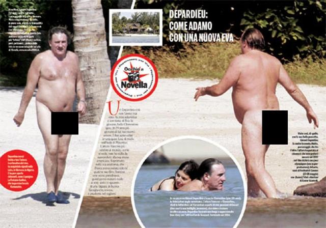 Жерар Депардье не только не стесняется своего веса, но даже предпочитает нудистские пляжи.