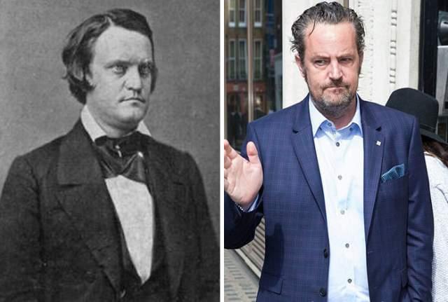 Юрист, политик, солдат и самый молодой вице-президент США Джон Кэбелл Брекинридж (1821-1875) и Мэтью Перри