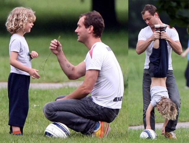 Джуд Лоу. У британского актера двое внебрачных детей. Самого младшего родила на тот момент уже бывшая девушка Лоу, 23-летняя певица Катрин.