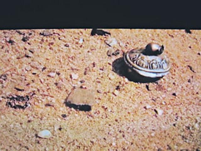 Эта марсианская панорама появилась на одном из интернет-сайтов. Но буквально через 30 минут она была удалена.