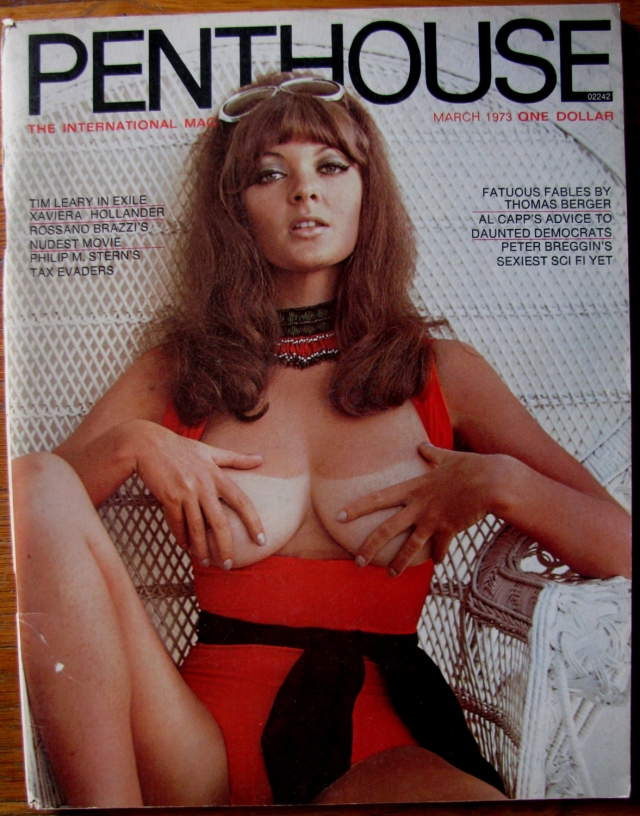 """Penthouse всегда был более смелым собратом других мужских журналов. Именно он в марте 1970 разместил на обложке женскую грудь с """"проблеском"""" соска."""