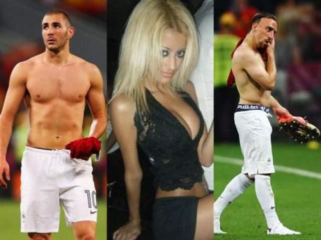 Французских футболистов Франка Рибери и Карима Бензема ,  обвиняли в сексуальных отношениях с несовершеннолетней.