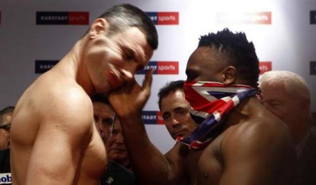Боксер Дерек Чисора ударил Виталия Кличко по щеке на взвешивании Инцидент произошел во время церемонии взвешивания в Мюнхене для чемпиона мира по версии WBC Виталия Кличко и претендента Дерека Чисоры.