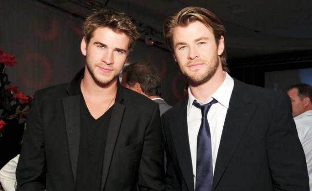 """Крис и Лиам Хэмсворты. Австралийцы известны ролями в марвеловской франшизе и в экранизации """"Голодных игр"""" соответственно."""