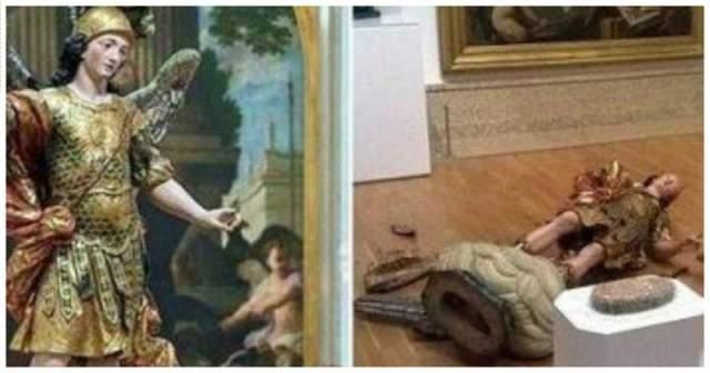 Ради популярности португалец попытался сделать селфи, забравшись на постамент статуи, изображающей короля Себастьяна I и случайно столкнул 126-летнее произведение, находящееся под охраной государства.