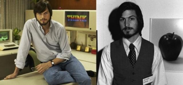 """Эштон Катчер и Стив Джобс , """"Джобс""""."""