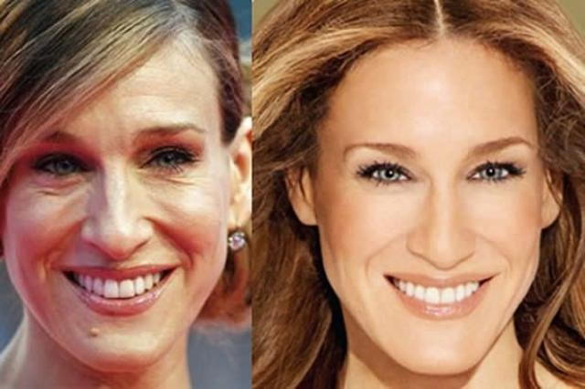 Сара Джессика Паркер. Фото 52-актрисы частенько подвергают сильной ретуши.