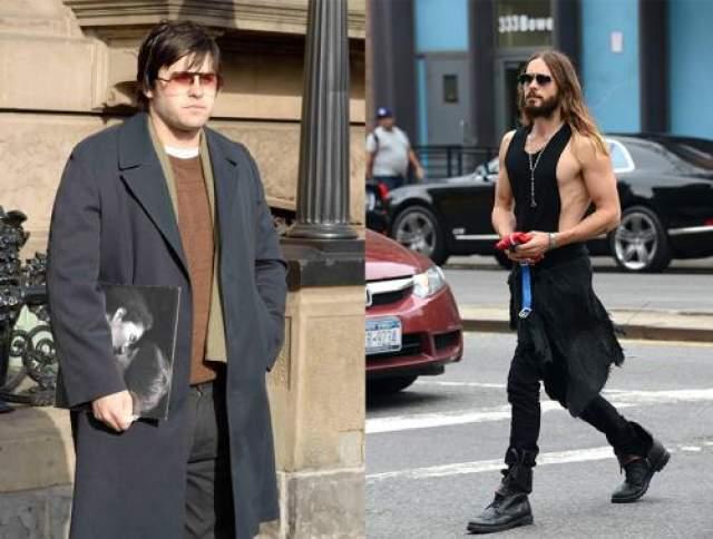 """Джаред Лето Для роли убийцы Джона Леннона в фильме """"Глава 27"""" американскому актеру пришлось набрать до 30 кг. Узнать его в таком виде практически невозможно."""