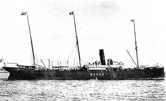 """22 июня 1904 года """"Нордж"""" отправлялся в очередной рейс. Этим трансатлантическим рейсом он должен был доставить в Нью-Йорк более 700 пассажиров. Сейчас уже, конечно, никто не узнает, кто из них сумел уговорить капитана Ганделла проложить курс мимо знаменитого Роколла."""