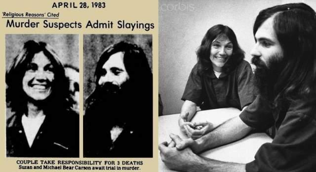 """Сьюзан и Джеймс Карсон (по другим данным - Майкл Беар Карсон). В период с 1982 по 1983 год семья Карсон плотно сидела на наркотиках. В какой-то момент они приняли ислам и переехали на ферму марихуаны в Сан-Франциско, говоря, что они """"мусульманские воины-вегетарианцы"""". Они убивали тех, кто, по их словам, источал """"злобную энергию""""."""