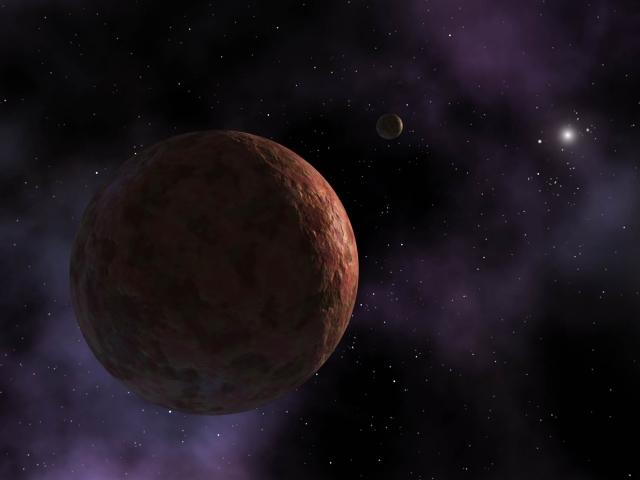 Расстояние от Седны (художественное изображение НАСА) до Солнца в три раза больше, чем от Солнца до Нептуна, но большая часть орбиты планеты расположена еще дальше.