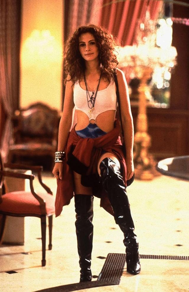 """Джулия Робертс, фильм """"Красотка"""". Роль проститутки Вивиан сделала актрису знаменитой и богатой."""