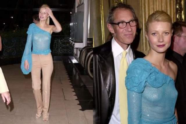 Гвинет Пэлтроу Гвинет временами отсутствием белья под нарядом и оскароносная Гвинет Пэлтроу. Причем носить вызывающие платье актриса начала давно -с самого начала своей кинокарьеры в 1997 году.