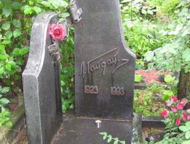 Леонид Гайдай скончался 19 ноября 1993 года, на 71-м году жизни, в Москве в результате тромбоэмболии легочной артерии. Похоронен на Кунцевском кладбище в Москве.
